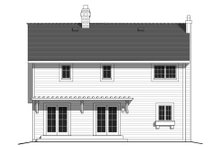 House Blueprint - Country Exterior - Rear Elevation Plan #427-1