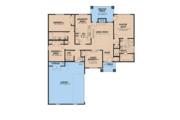 Mediterranean Style House Plan - 4 Beds 2 Baths 1649 Sq/Ft Plan #923-124 Floor Plan - Main Floor Plan