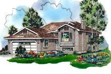 House Blueprint - Traditional Exterior - Front Elevation Plan #18-304