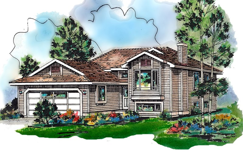 Home Plan Design - Traditional Exterior - Front Elevation Plan #18-304