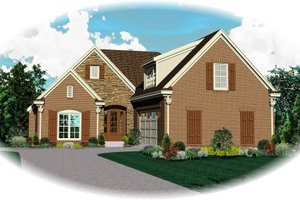 Traditional Exterior - Front Elevation Plan #81-13898