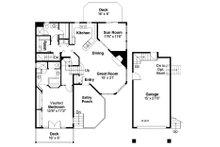 Country Floor Plan - Main Floor Plan Plan #124-438