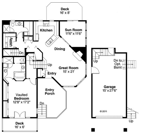 Country Floor Plan - Main Floor Plan Plan #124-438