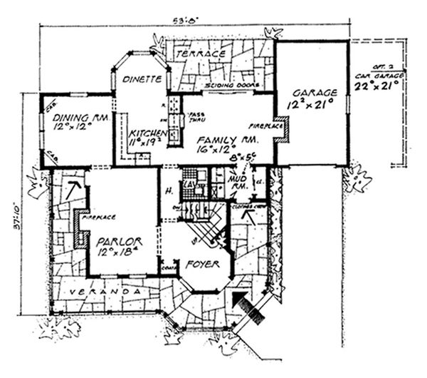 Victorian Floor Plan - Main Floor Plan #315-105