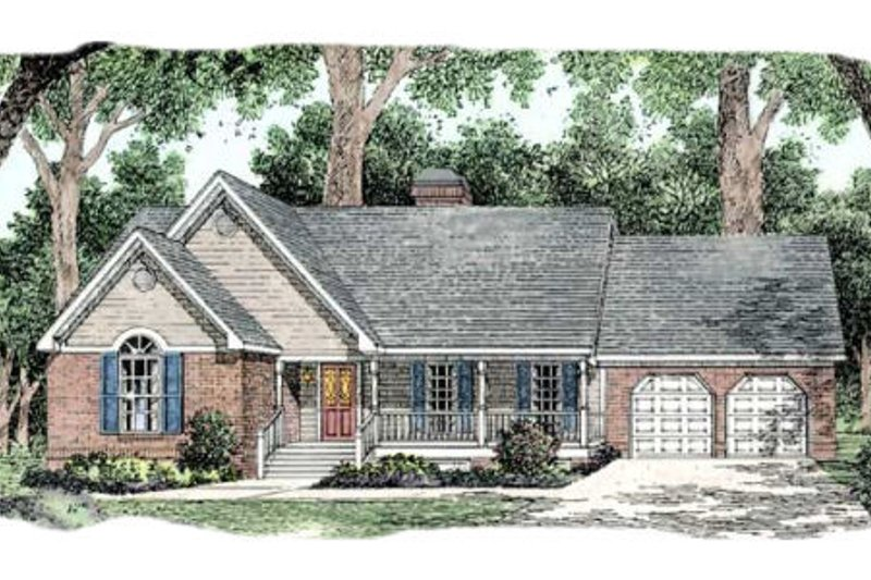 Country Exterior - Front Elevation Plan #406-159 - Houseplans.com