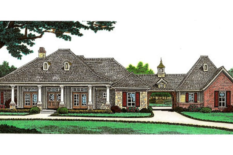 Dream House Plan - Traditional Exterior - Front Elevation Plan #310-647