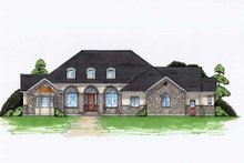Colonial Exterior - Front Elevation Plan #5-336