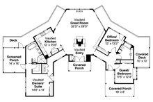 Ranch Floor Plan - Main Floor Plan Plan #124-910
