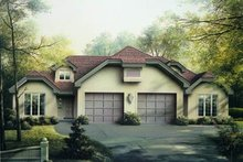 Dream House Plan - European Exterior - Front Elevation Plan #57-147