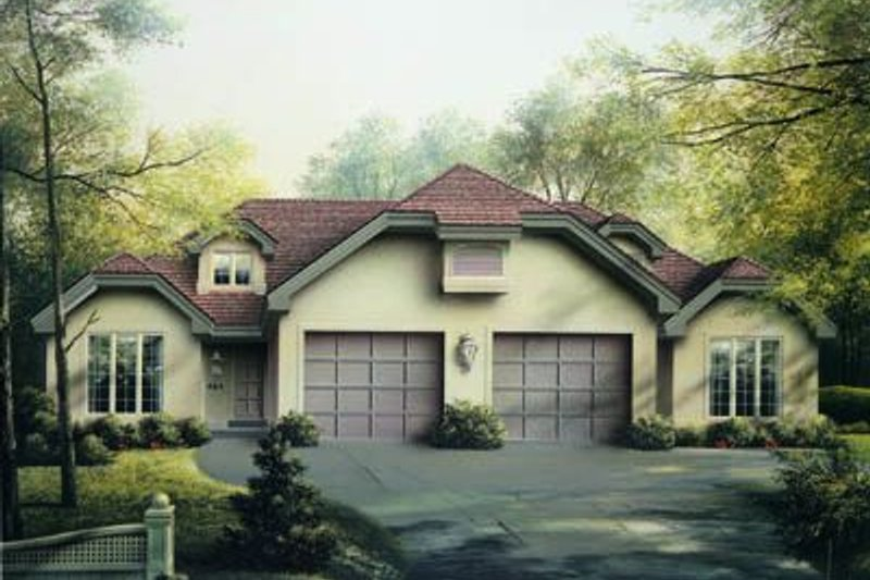 Home Plan - European Exterior - Front Elevation Plan #57-147
