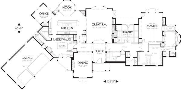 Craftsman Floor Plan - Main Floor Plan Plan #48-622
