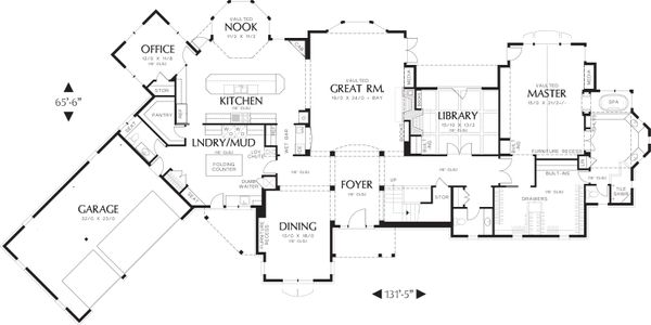 House Design - Craftsman Floor Plan - Main Floor Plan #48-622