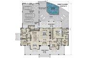 Farmhouse Style House Plan - 4 Beds 4.5 Baths 2743 Sq/Ft Plan #51-1149 Floor Plan - Main Floor Plan