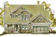 Craftsman Style House Plan - 3 Beds 2.5 Baths 2084 Sq/Ft Plan #20-250 Exterior - Front Elevation