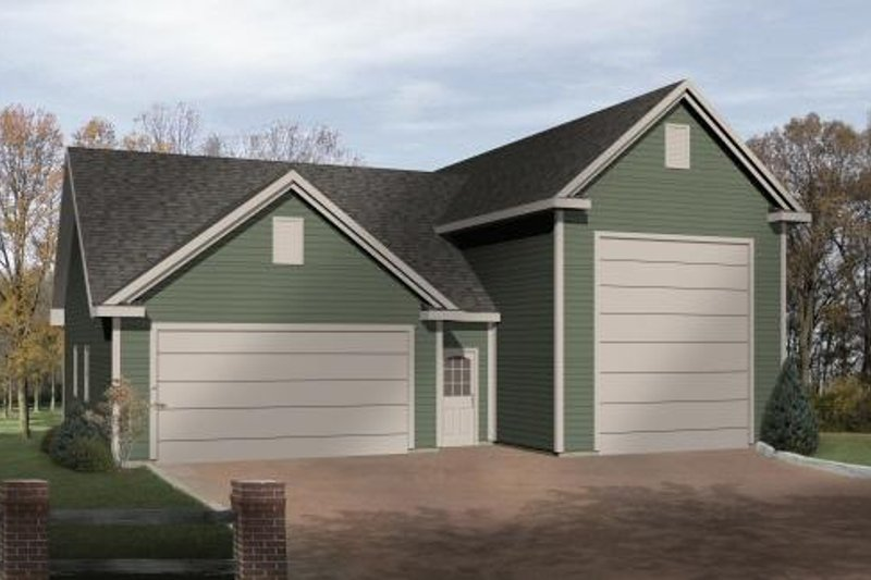 Traditional Style House Plan - 0 Beds 0 Baths 1494 Sq/Ft Plan #22-431 Exterior - Front Elevation
