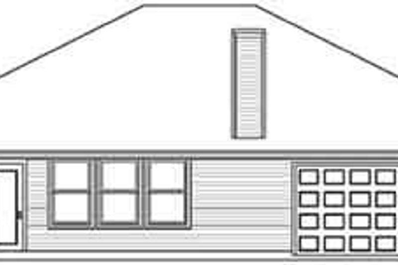 European Exterior - Rear Elevation Plan #84-208 - Houseplans.com