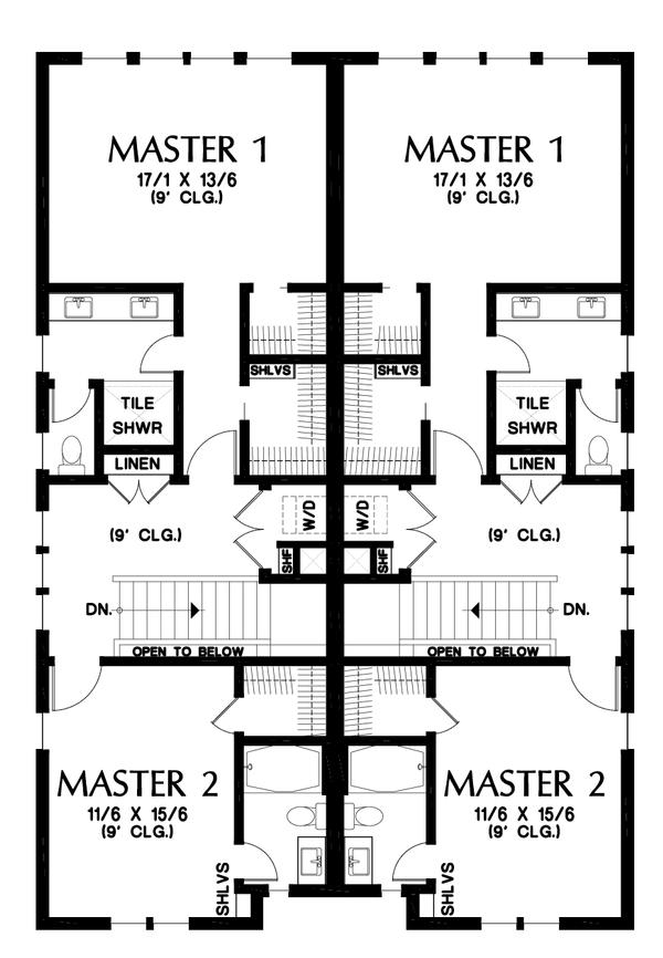 Dream House Plan - Contemporary Floor Plan - Upper Floor Plan #48-1021