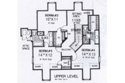 Colonial Style House Plan - 4 Beds 4 Baths 3105 Sq/Ft Plan #310-918 Floor Plan - Upper Floor