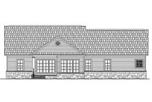 Southern Exterior - Rear Elevation Plan #21-131