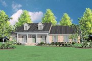 Southern Style House Plan - 4 Beds 2 Baths 2423 Sq/Ft Plan #36-211 Exterior - Front Elevation