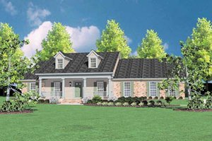 Home Plan Design - Southern Exterior - Front Elevation Plan #36-211