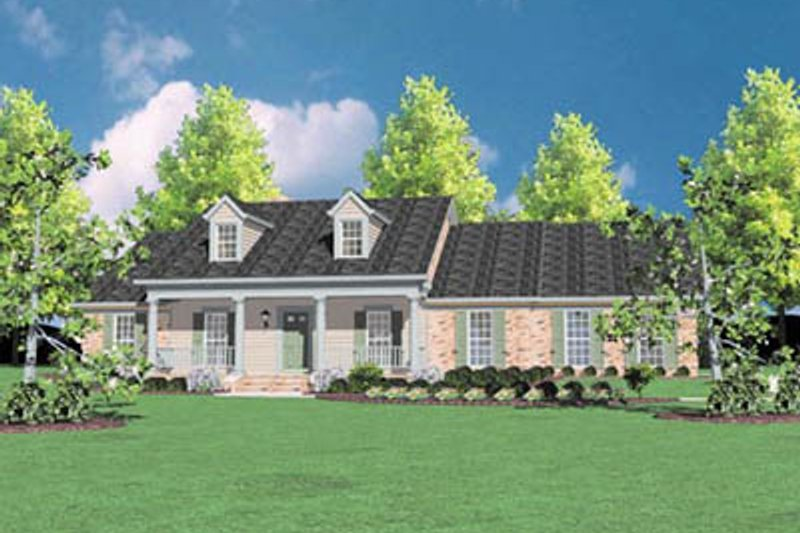 Home Plan - Southern Exterior - Front Elevation Plan #36-211