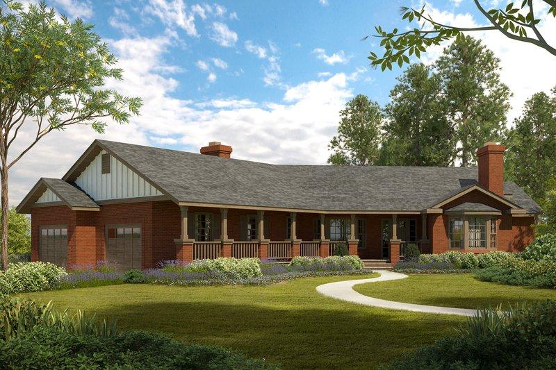 House Plan Design - Ranch Exterior - Front Elevation Plan #124-188