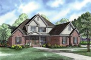 Traditional Style House Plan - 4 Beds 2.5 Baths 2625 Sq/Ft Plan #17-2383 Exterior - Front Elevation