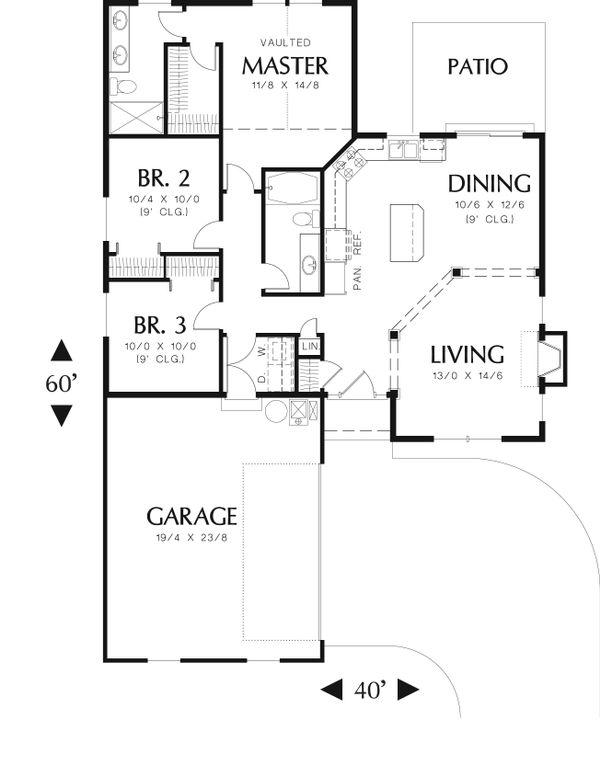 Cottage Floor Plan - Main Floor Plan #48-587