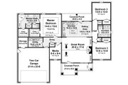 Traditional Style House Plan - 3 Beds 2 Baths 1853 Sq/Ft Plan #21-334 Floor Plan - Main Floor Plan