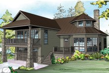 Country Exterior - Front Elevation Plan #124-917
