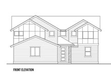 Home Plan - Contemporary Exterior - Front Elevation Plan #569-36