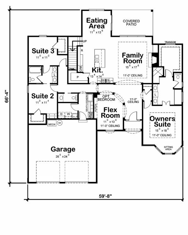 Traditional Floor Plan - Main Floor Plan Plan #20-2186