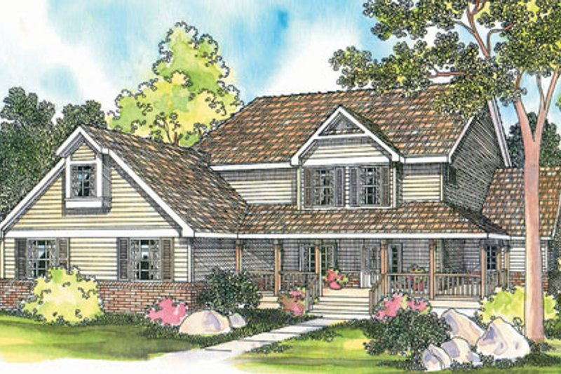 Farmhouse Style House Plan - 6 Beds 3 Baths 3314 Sq/Ft Plan #124-197 Exterior - Front Elevation