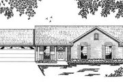 Ranch Style House Plan - 3 Beds 2 Baths 1022 Sq/Ft Plan #42-101 Exterior - Front Elevation