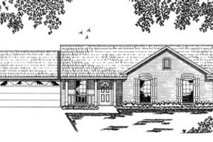 Ranch Exterior - Front Elevation Plan #42-101