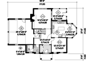 Colonial Style House Plan - 3 Beds 1 Baths 2153 Sq/Ft Plan #25-4792 Floor Plan - Main Floor Plan