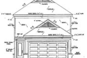 Southern Style House Plan - 4 Beds 2.5 Baths 1802 Sq/Ft Plan #81-115 Exterior - Rear Elevation