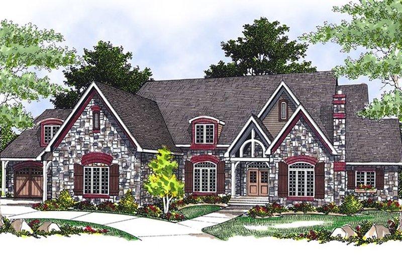 Dream House Plan - European Exterior - Front Elevation Plan #70-549