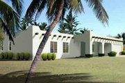 Adobe / Southwestern Style House Plan - 3 Beds 2 Baths 1539 Sq/Ft Plan #1-1314 Exterior - Front Elevation