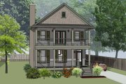 Southern Style House Plan - 3 Beds 2.5 Baths 1667 Sq/Ft Plan #79-229 Exterior - Front Elevation