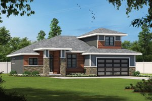 House Blueprint - Contemporary Exterior - Front Elevation Plan #20-2428