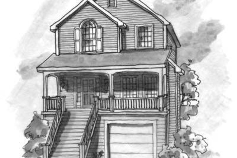 Craftsman Style House Plan - 3 Beds 2.5 Baths 1463 Sq/Ft Plan #20-427 Exterior - Front Elevation