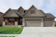 Craftsman Style House Plan - 4 Beds 3.5 Baths 2116 Sq/Ft Plan #20-2254 Exterior - Front Elevation