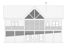 Country Exterior - Rear Elevation Plan #932-55