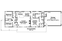 Ranch Floor Plan - Main Floor Plan Plan #124-983
