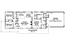 Ranch Floor Plan - Main Floor Plan Plan #124-983