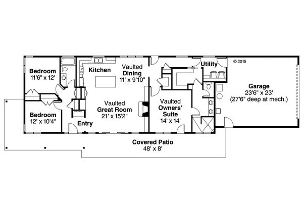 House Plan Design - Ranch Floor Plan - Main Floor Plan #124-983