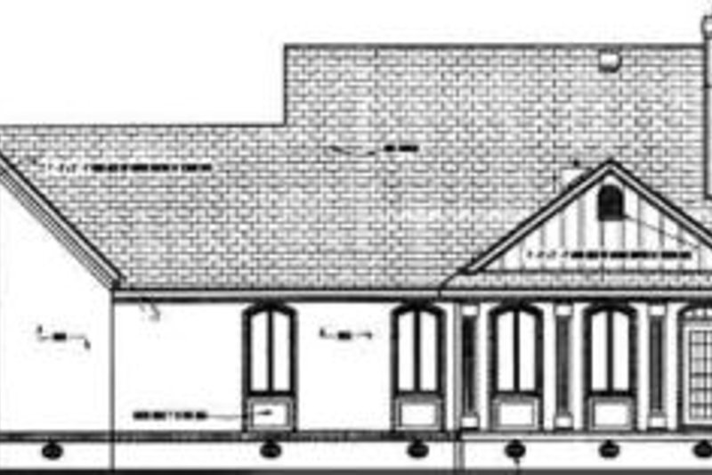 Southern Exterior - Rear Elevation Plan #45-239 - Houseplans.com