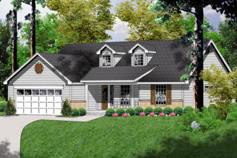 Farmhouse Exterior - Front Elevation Plan #40-253